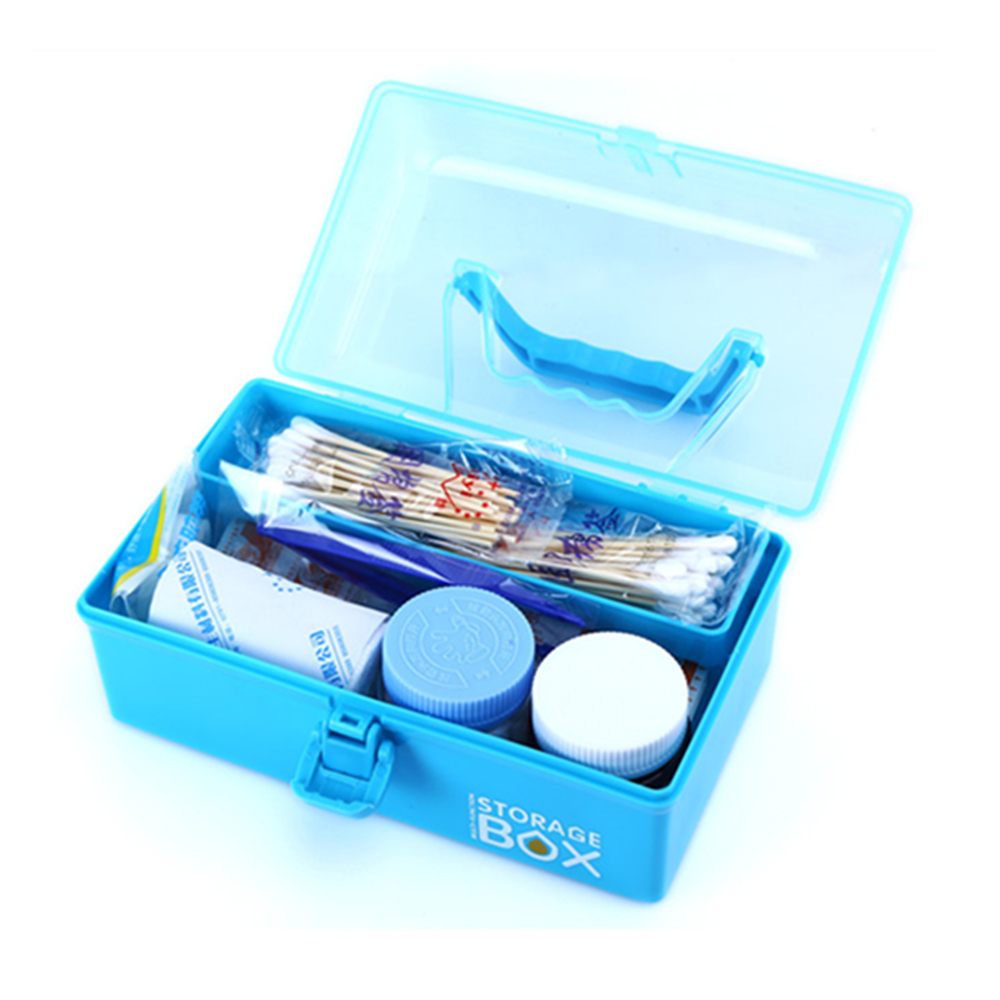 Empty First Aid Kit Family Medicine Chest Storage Box Household Plastic Drug Holder Case Medicine Cabinet цена