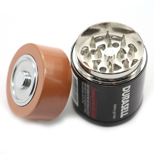 Creative Battery Shaped Metal Zinc Alloy Herb Weed Tobacco Grinder 4