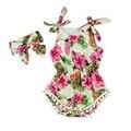2016 новый урожай цветочные хлопок ребенка ползунки новорожденный девушки помпоном наряды младенческой новорожденных костюм малышей дети одежда и пиджаки