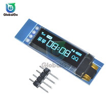 4pin 0.96 inch IIC Serial Blue White OLED Display Module 128X32 I2C SSD1306 LCD Screen Board GND VCC SCL SDA for Arduino