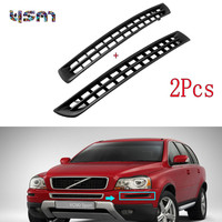 New Pair Bumper Plastic Grille Cover Left Right Front Black For VOLVO XC90 2007 2014 30678953