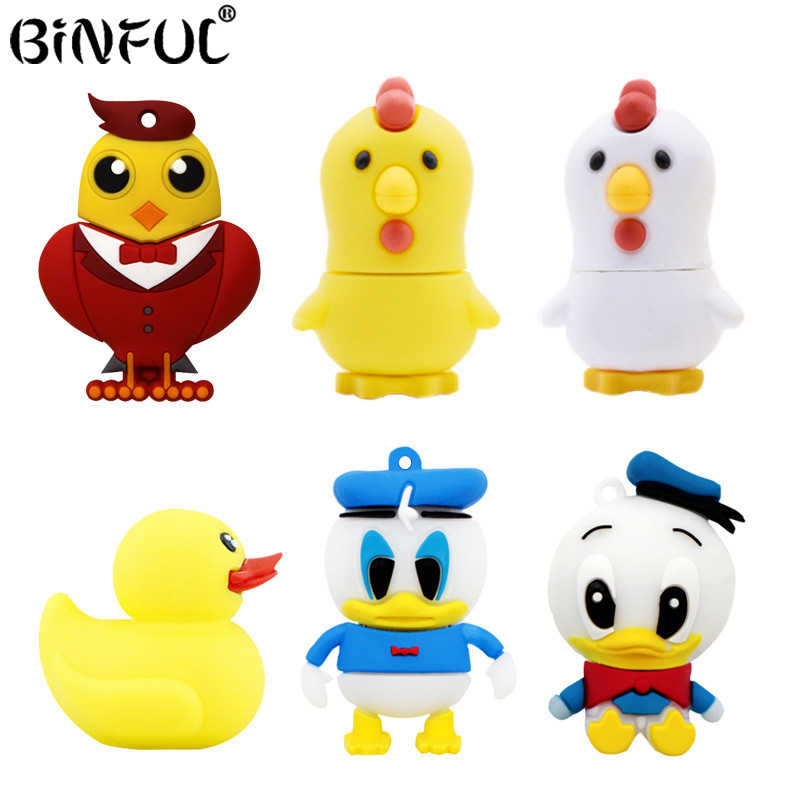 Pen Drive Ayam USB Flash Drive Donald Duck Flashdisk 8G 4 Gb 16G Flash Kartu 32GB 64 gb Flash Memori Tongkat Kartun Burung U Disk