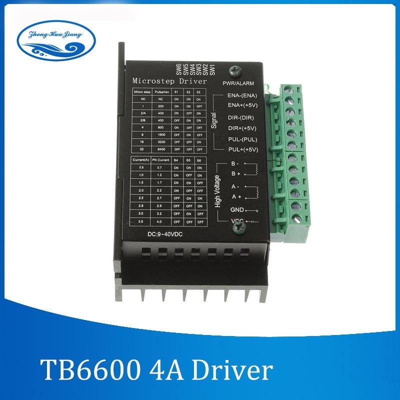 TB6600 schrittmotortreiber Controller 4A 9 ~ 42 V TTL 16 Micro-Schritt CNC 1 Achsen NEUE verbesserte version des 42/57/86 stepper motor