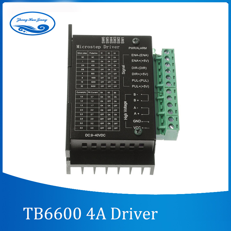 TB6600 stepper motor Driver Controller 4A 9~42V TTL 16 Micro-Step CNC 1 Axis NEW upgraded version of the 42/57/86 stepper motor tb6600 stepper motor driver controller 4a 9 42v ttl 16 new upgraded version of the 42 57 86 stepper motor micro step cnc 1 axis