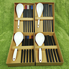 Alloy Chopsticks A5 Melamine Rice Spoon Six Piece Sets Dinnerware Private Household Gift Giving Tableware Flatware