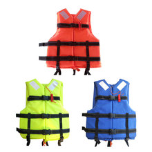 Professional Men Life Jacket Buoyancy Swimming Boating Survival Rescue Vest Drifting for Kids Adult with Whistle safety A