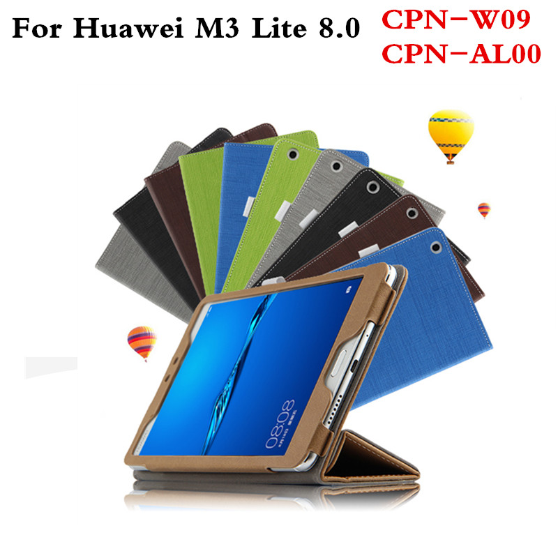 PU Leather Protective Patchwork Case Flip For Huawei MediaPad M3 Lite 8 CPN-W09 CPN-AL00 8.0 inch Tablet With Magnetic cover for 2017 huawei mediapad m3 youth lite 8 cpn w09 cpn al00 8 tablet pu leather cover case free stylus free film
