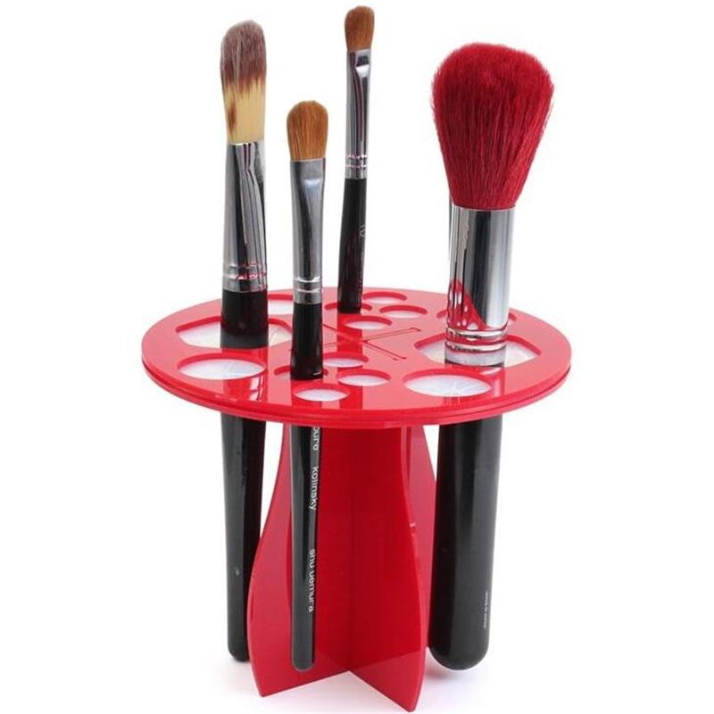 1PC Stand Makeup Rack Holder Acrylic Folding Air Drying Brush Cosmetic Artifact Round Type Without Brush I030 heart shape brush stand brush holder