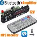 Marca al por mayor Nueva 12 V Del Coche Manos Libres Bluetooth módulo de a bordo de decodificación MP3 con Bluetooth y construir en 2*3 amplificador board-10000657