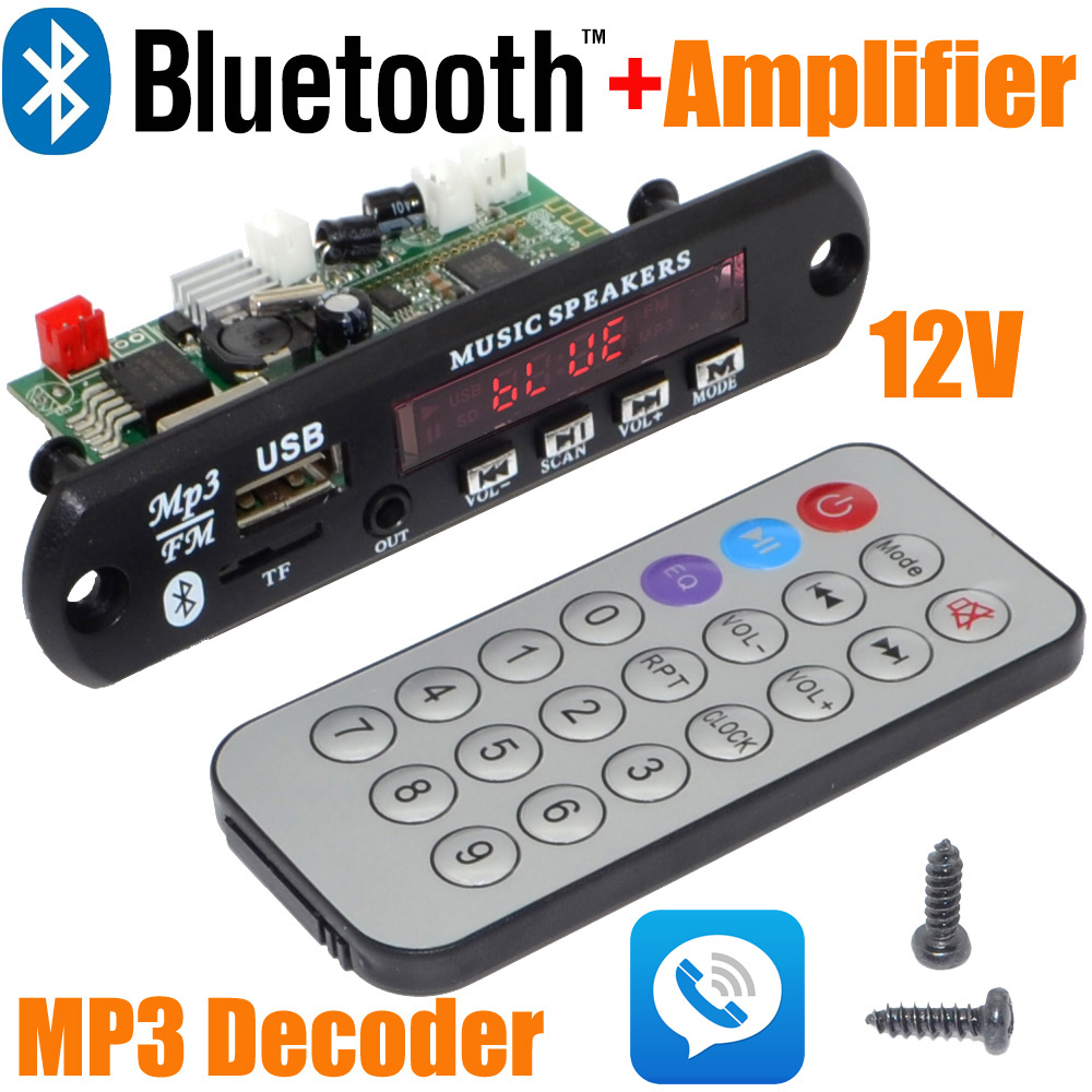 Venta De Manos Libres Bluetooth 12 54 Venta Al Por Mayor Nuevo 12 V Coche Manos Libres Bluetooth Mp3 Decodificar Con Módulo Bluetooth Y Construir En 2 3 Tablero Amplificador