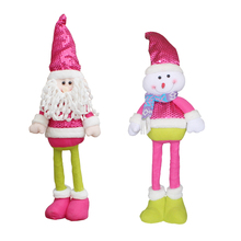 Christmas Retractable Santa Claus/Snowman Dolls Standing Figurine Ornaments Xmas Gift For Kids Christmas Tree Pendant Decor