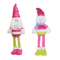 Christmas Retractable Santa Claus/Snowman Dolls Standing Figurine Ornaments Xmas Gift For Kids Christmas Tree Pendant Decor