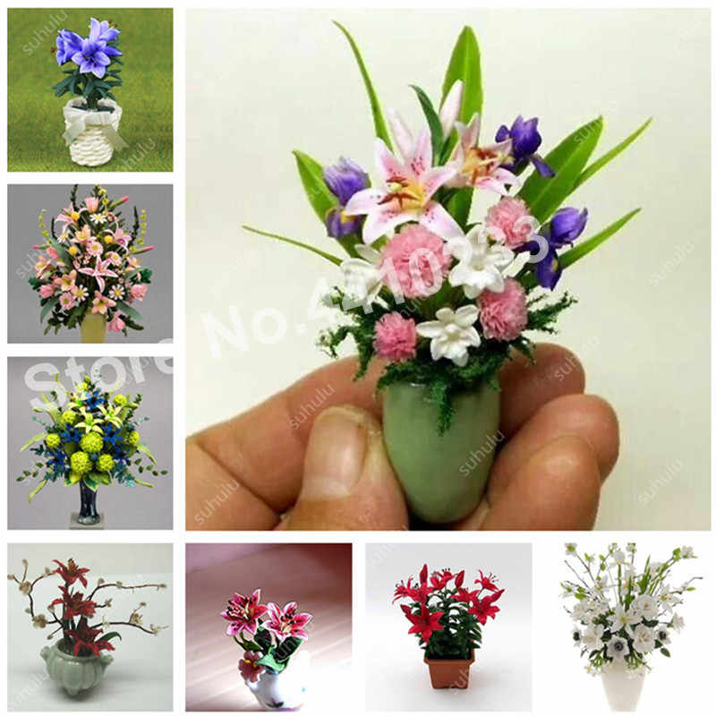 100 Pcs Mini Perfume Lily Bonsai Beauty Cheap Flower Creepers Garden Supplies Pots Planters Diy Home Nursery Germination 99%