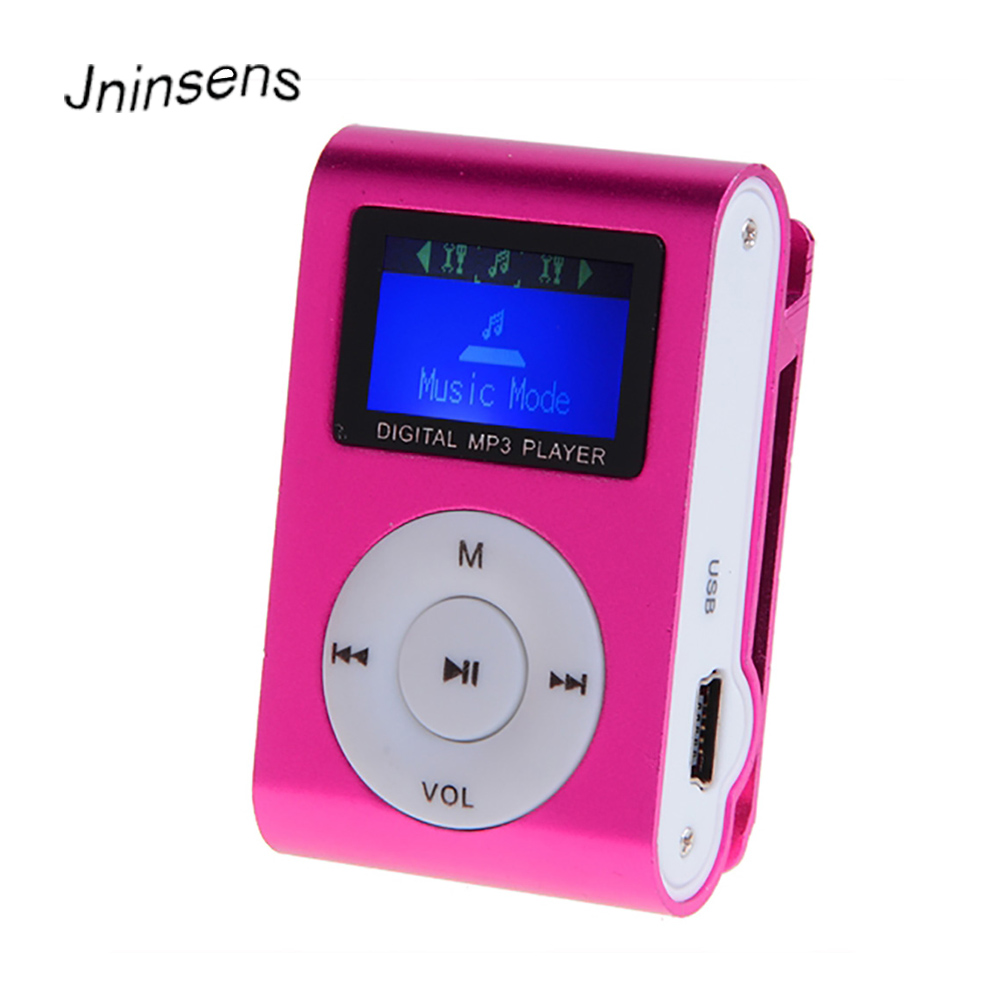 Mini MP3 Player Clip USB LCD Screen Support For 32GB Micro SD Can Used As Card Reader