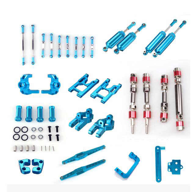 Wltoys 12428 12423 FEIUY FY-03 RC Auto onderdelen Metal upgrade onderdelen set trekstang aandrijfas