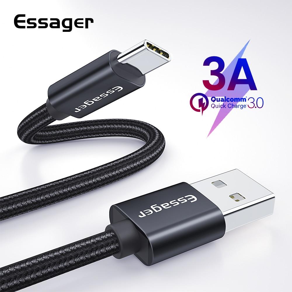 Dynamisch Essager 3a Usb Typ C Kabel Schnelle Lade Für Samsung S10 S9 Usb-c Schnelle Ladung Für Xiaomi Mi9 Typ- C Quick Charge 3,0 Daten Kabel