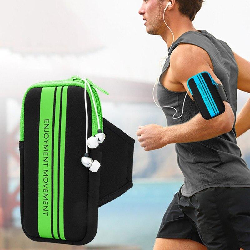 Hot  Sports Running Jogging Gym Bracelet  Holder Bags For Mobile Phones  6 Inch Keys Pack With Headset Hole