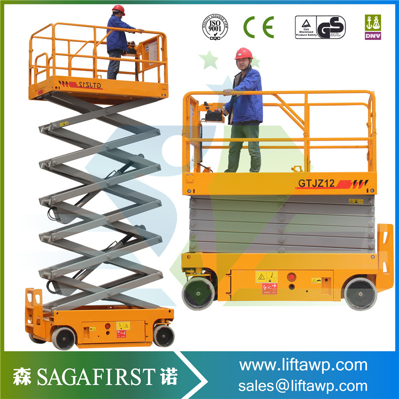 8m 10m 12m Self Propelled Scissor Lift Platform Auto Moving Scissor Lift