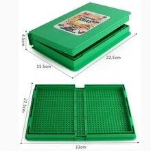 hot deal buy building block storage box, building board, multi-function book modeling brick box, 4 colors optional,compatible brand blocks