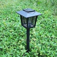 Behogar  Eco-Friendly Solar Powered Garden Light Anti Mosquito Insect Flying Killer Lamp Bug Zapper Garden Light Moskito Trap