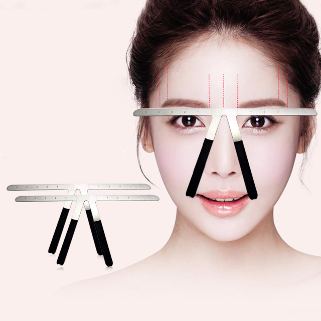 Permanent Makeup Stencil Microblading Eyebrow Tattoo Stencil Ruler Shaper Template Definition Grooming Stencil 1
