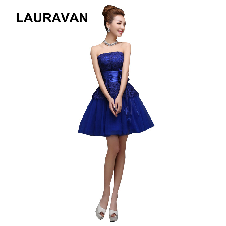 Occasion spéciale 2018 femmes bretelles court bleu royal demoiselle d'honneur robe femme vêtue pour parties de noce livraison gratuite