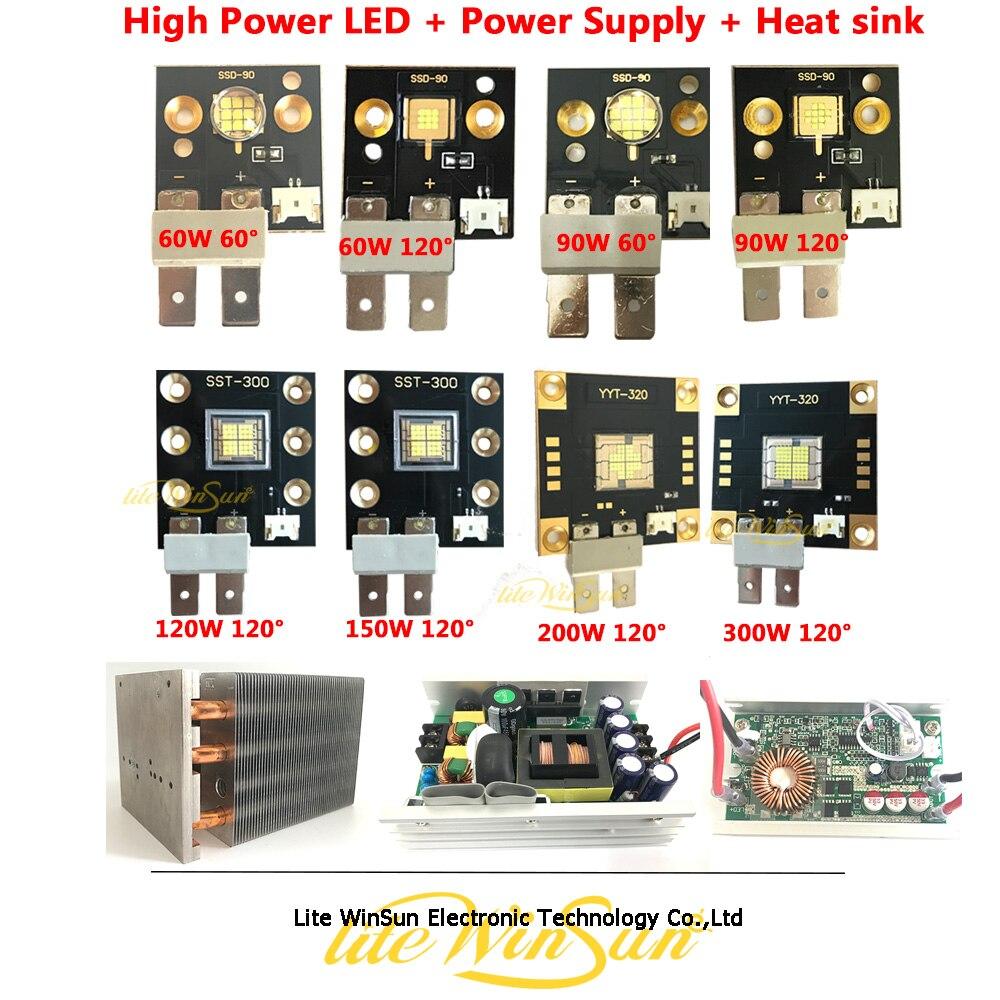 Litewinsune SSD-90 SST-300 YYT-320 de alta potencia LED emisor proyecto DIY fuente de luz disipador de calor LED de alimentación de accesorios 40000LM potente faro USB recargable 7 LED faro delantero lámpara impermeable cabeza linterna