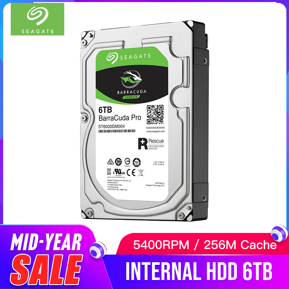 Seagate 6TB Desktop HDD Internal Hard Disk Drive 7200RPM SATA3 6Gb/s 25MB Cache 3.5inch HDD Drive Disk For Computer ST6000DM004Seagate 6TB Desktop HDD Internal Hard Disk Drive 7200RPM SATA3 6Gb/s 25MB Cache 3.5inch HDD Drive Disk For Computer ST6000DM004