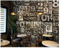 Free Shipping Custom Ktv Bar Wallpaper Living Room Bedroom TV Personality English Alphabet Wallpaper 3D