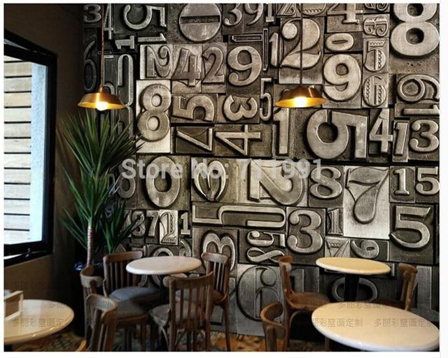 kundenspezifische retro tapeten wandbild, dreidimensionale metall ... - Retro Tapete Wohnzimmer