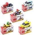 5 pçs/set New Bonito Bros Kart Puxar Para Trás Do Carro Da Motocicleta PVC Action Figure Toys Brithday Presente Para As Crianças
