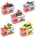 5pcs/set New Cute Bros Kart Pull Back Car Motorcycle PVC Action Figure Toys Brithday Gift For Children