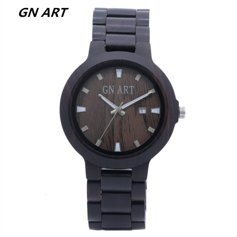 Wood Watch male black Wooden Quartz Watches Men in Gift Box 2018 Valentines Day gifts Wholesale Watch LOGO reservation