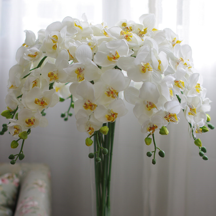 Hot 10 pcs lot Silk Flower Artificial Butterfly Orchid new House Home Wedding Festival Decoration road