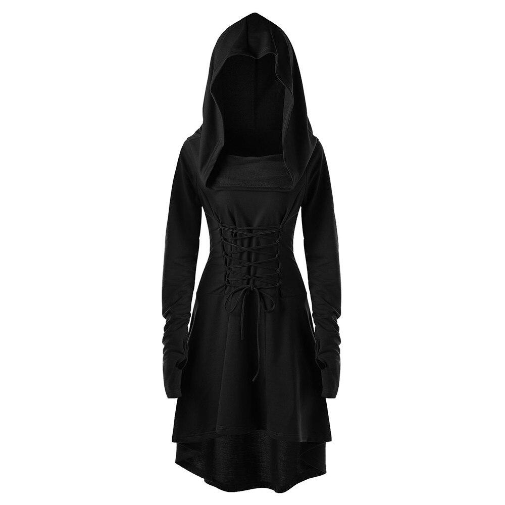 25f405f5da4 JAYCOSIN Pullover High Low Bandage Hoodie Dress Women Casual 2019 ...