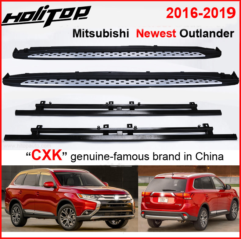 nerf bar running board side step for Mitsubishi Outlander 2016 2017 2018 2019+,CXK genuine,full refund if can not stand 4persons