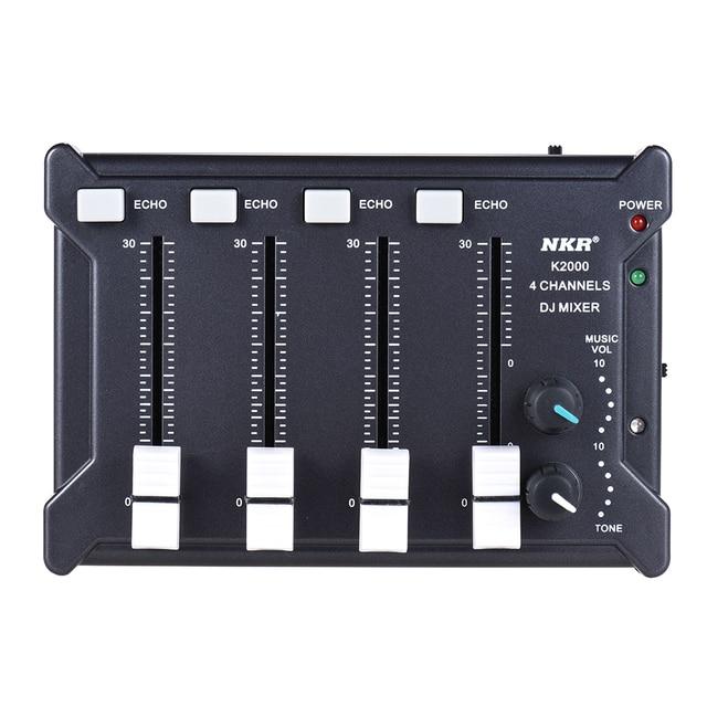 Nkr Professional Mini Pocket 4 Channel Mono Stereo Audio Dj Sound Mixer Usb Powered Bt