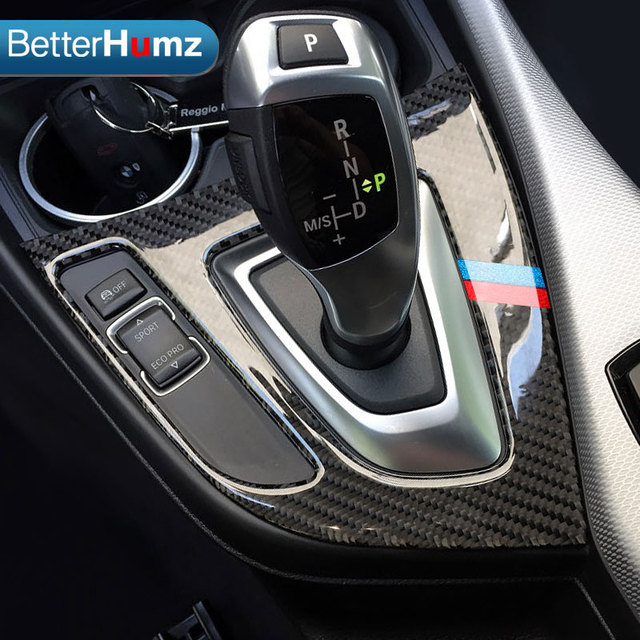 Us 20 44 27 Off For Bmw F20 F21 Carbon Fiber Gear Shift Control Panel Cover Interior Trim Car Styling Sticker 1 Series 116i 118i Accessories In Car
