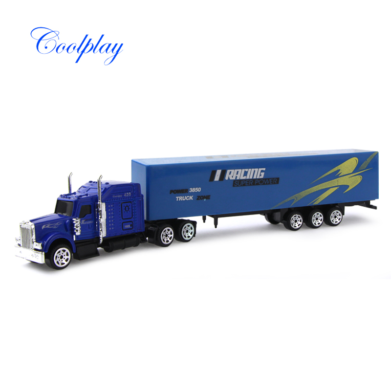 Mini Diecast Alloy & Plastic Container Truck Toy Vehicles Model Cars Container Truck Educational Toy Christmas Gift for Kids )