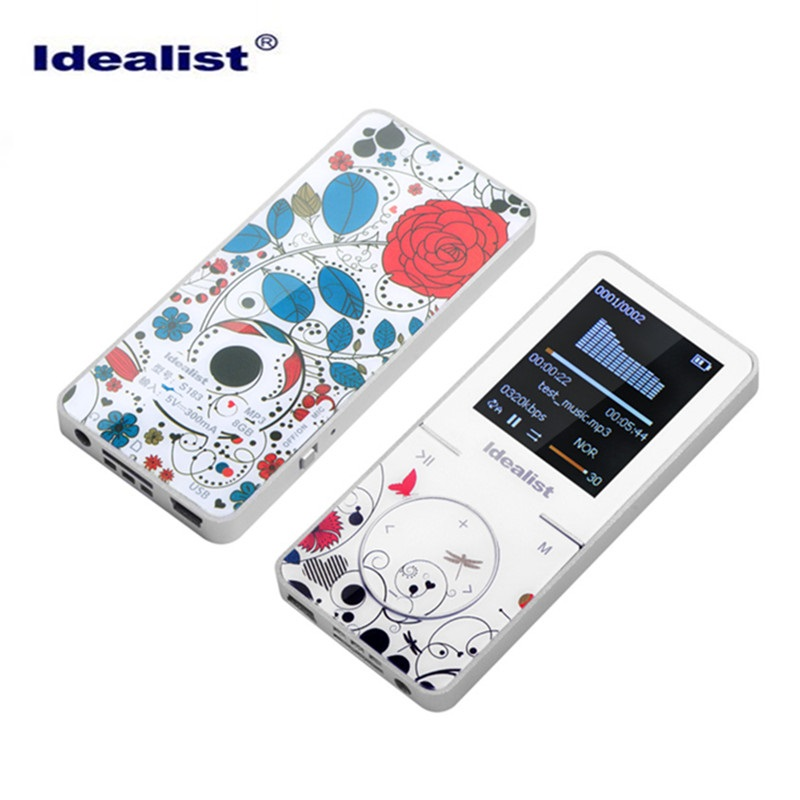 Idealist 8GB MP4 Player with Armband Earphone Loudspeaker Music Video Sport MP4 Player Free Download Reproductor Mini MP4 Player