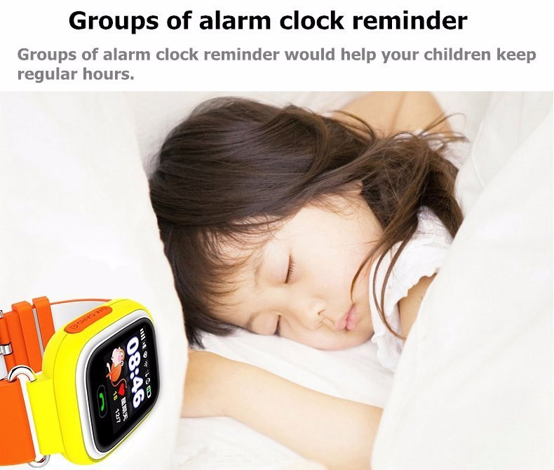 Child Smart Watch Q90 GPS LBS Positioning Children Smart Watch 1.22 Inch Touch Screen SOS Clock Tracker for Kid Safe Monitor#C1 17