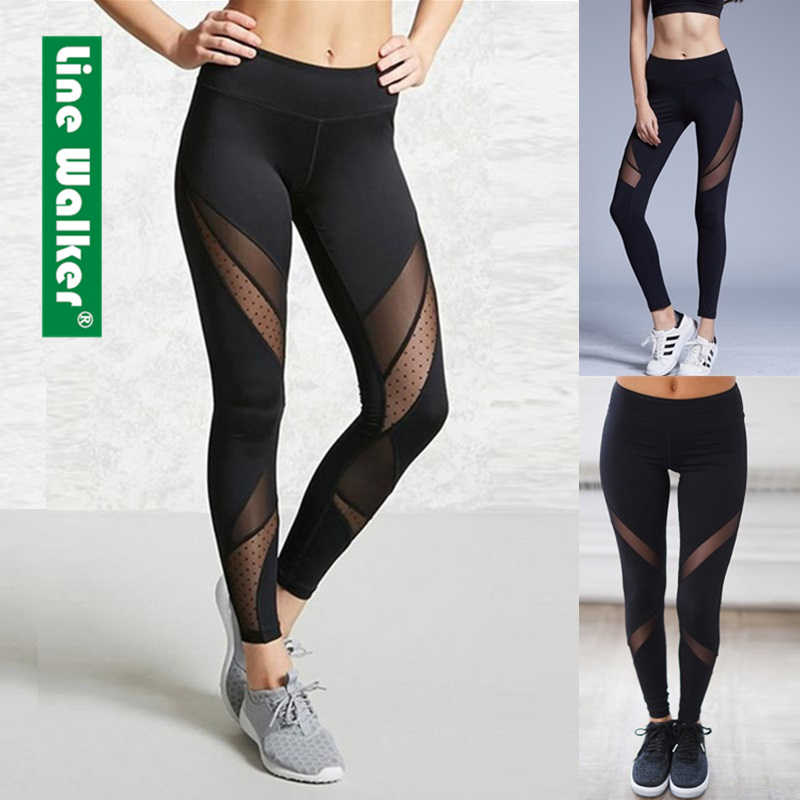 Yoga Broek Vrouwen Leggings voor Fitness Mesh Patchwork Push Up Legging Gym Booty Sport Panty Sportkleding Running Legency