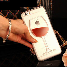 3D Liquid Cocktail Bottle Flow Red Wine Phone cases For iphone X Xs Max Xr 6 6S 7 Plus SE 5 5S 7 8 phone Cover Capa Fundas Coque(China)