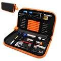 Enchufe europeo 220 V 60 W temperatura ajustable Kit de soldador eléctrico 5 piezas puntas herramienta de reparación de soldadura portátil pinzas cuchillo de