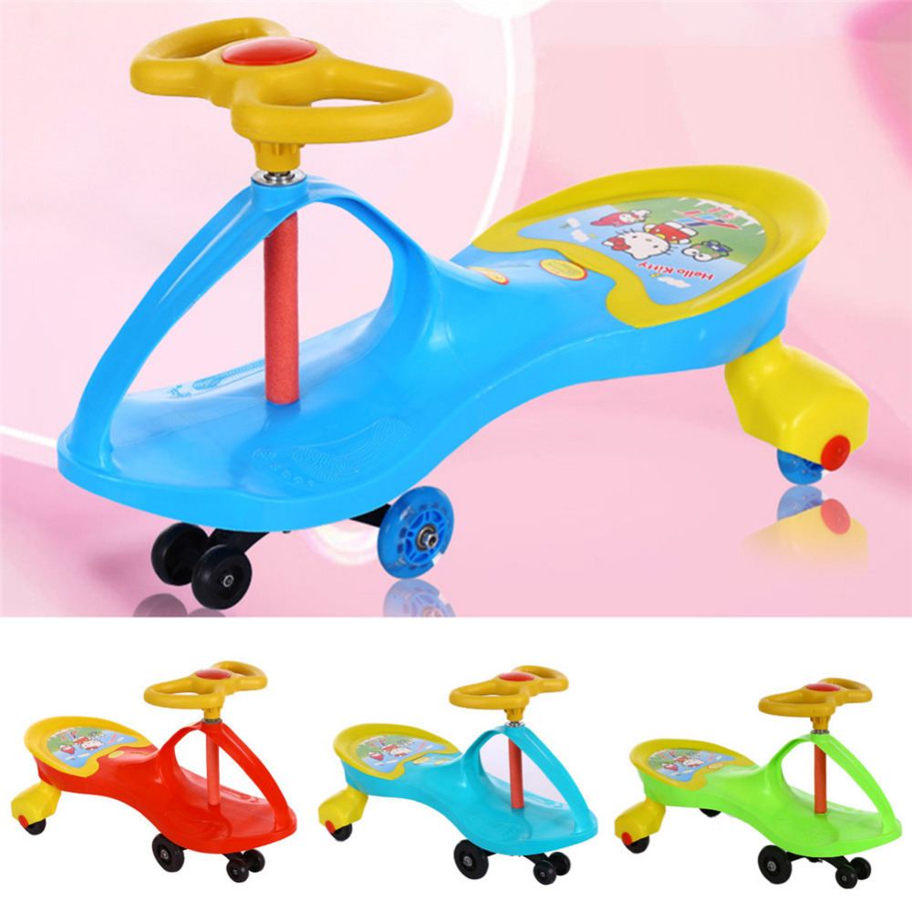 цены New 1pc Kids Scooter Swing Car  Wiggle Gyro Plasma Ride On Toy Twist Turn Baby Walker best Gift to Children Wholesale