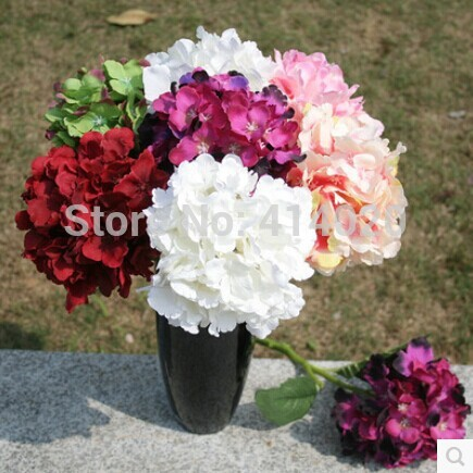 100Pcs /Lot Wholesale 16*37CM Colorful Silk Made Rose Artical Flower Bounch Handmade Diy Wedding Home Decor Flowers