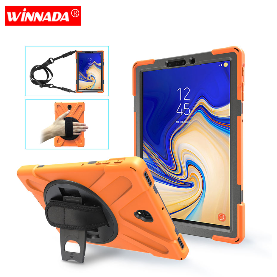 Case For Samsung Galaxy Tab S4 2018 10.5 inch SM T830 T835 Shock Proof full body cover Handle stand sleeve capa funda