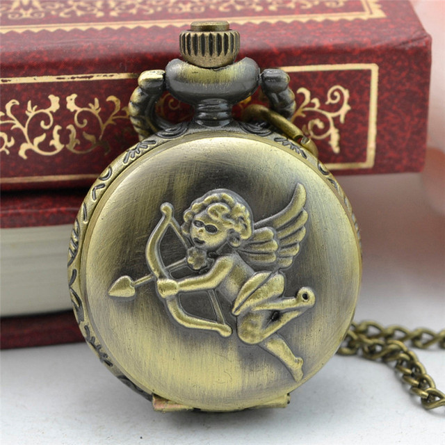 11.11 2017 new Vintage Retro Bronze Design Pocket Watch Quartz Pendant Necklace