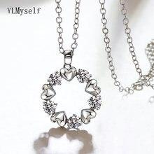 Красивая круглая подвеска с кристаллом ожерелье подвеской в