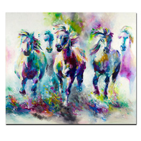 Katy Perry Style Watercolor Horse Running Canvas Painting on Canvas Pop Art Animal Wall Picture for Living Room Cuadros